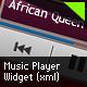 Music Player Widget (XML) - ActiveDen Item for Sale