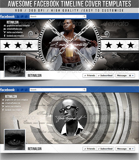GraphicRiver Facebook Timeline Covers 2in1 2330982