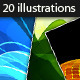 20 Abstract Vector Illustrations - GraphicRiver Item for Sale