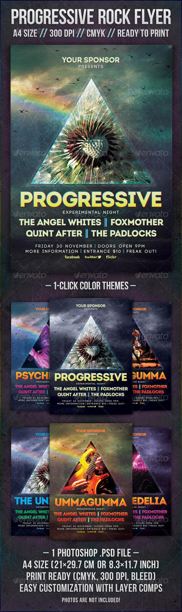 GraphicRiver Progressive Rock Flyer 2332589