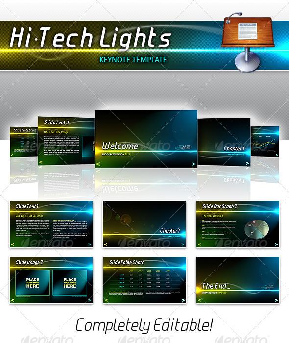 GraphicRiver Hi-Tech Lights Keynote 263969