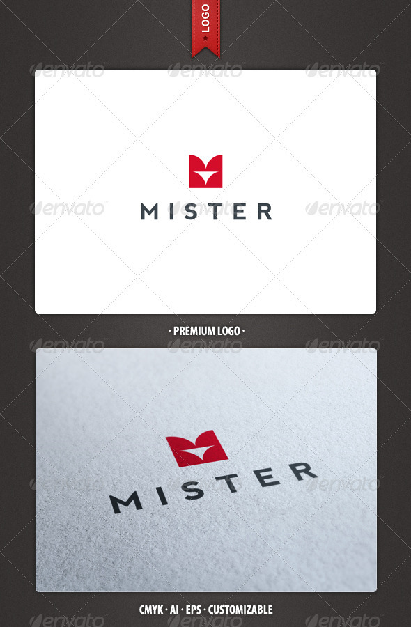 Mister - Abstract and Letter M Logo - Abstract Logo Templates