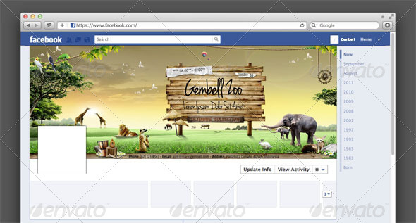 GraphicRiver Zoo Facebook Timeline Cover 2305065