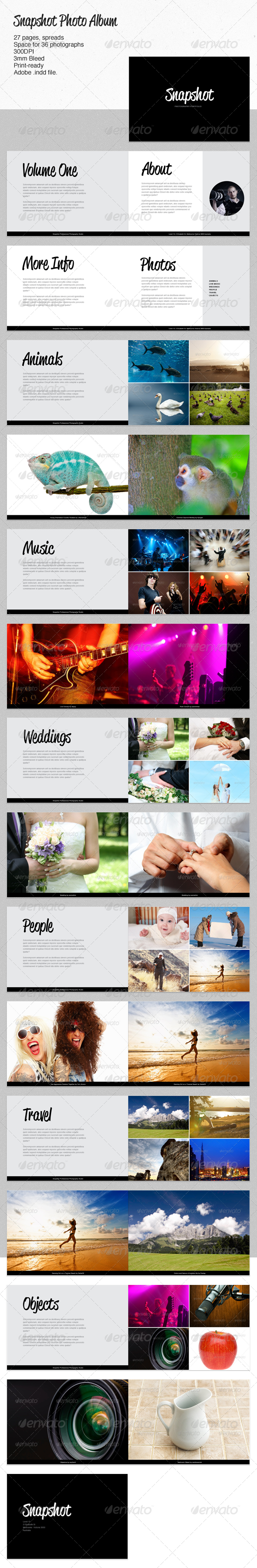 GraphicRiver Snapshot Photo Album 2305455