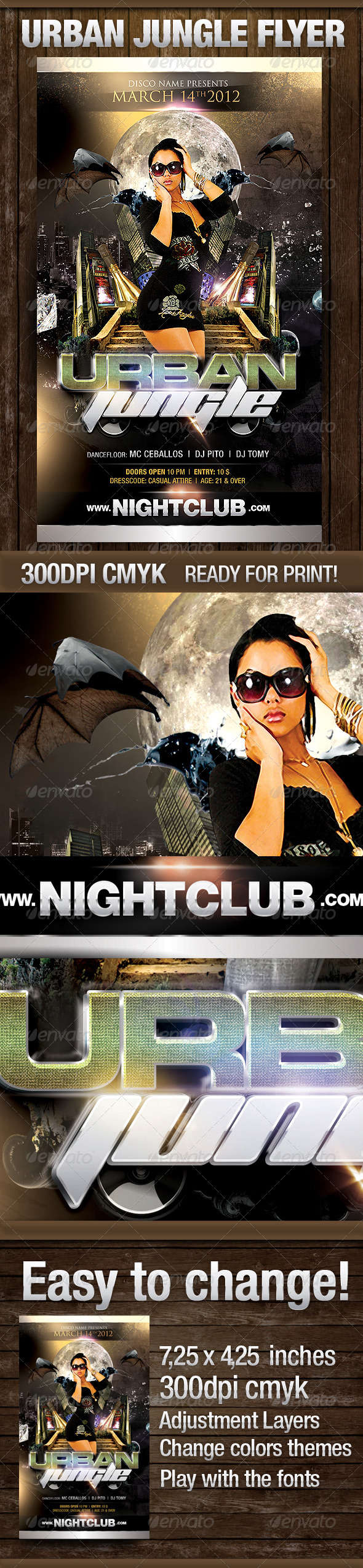 Urban Jungle Flyer - Clubs & Parties Events