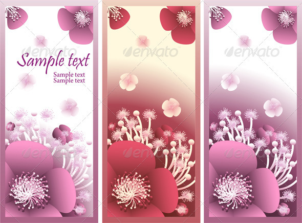 Banner with  flowers for flowers shop or perfume - Flowers & Plants Nature