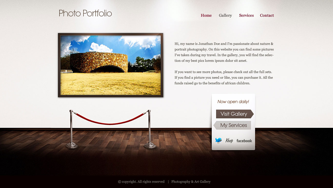 art gallery photography illustration and design site templates