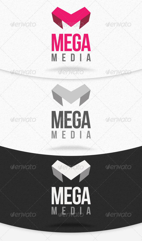 Mega Media Logo Template - Letters Logo Templates