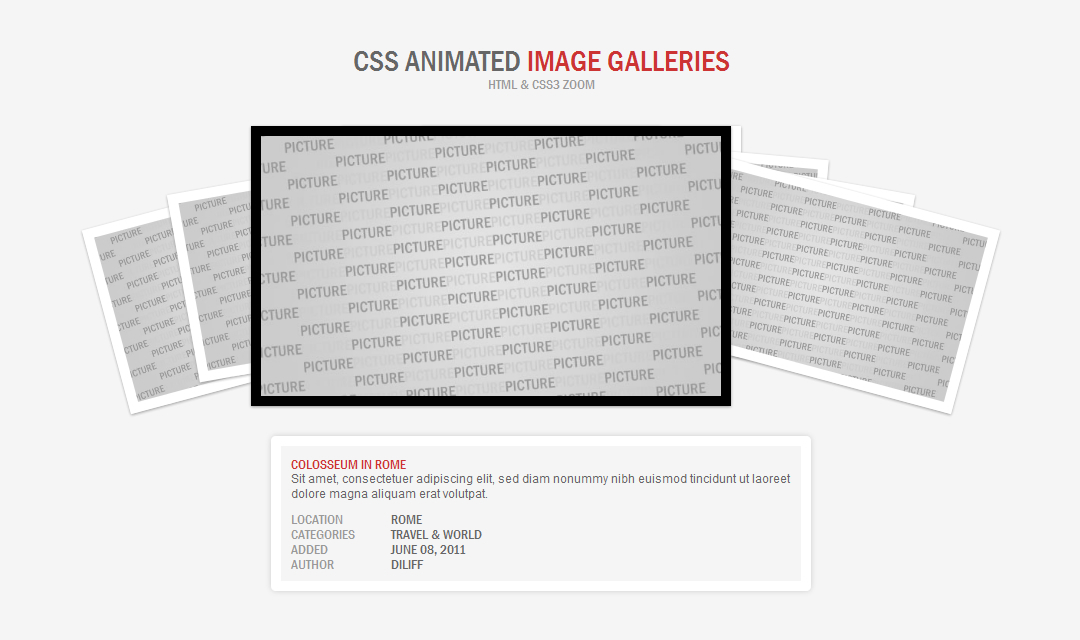 CSS Animated Image Galleries