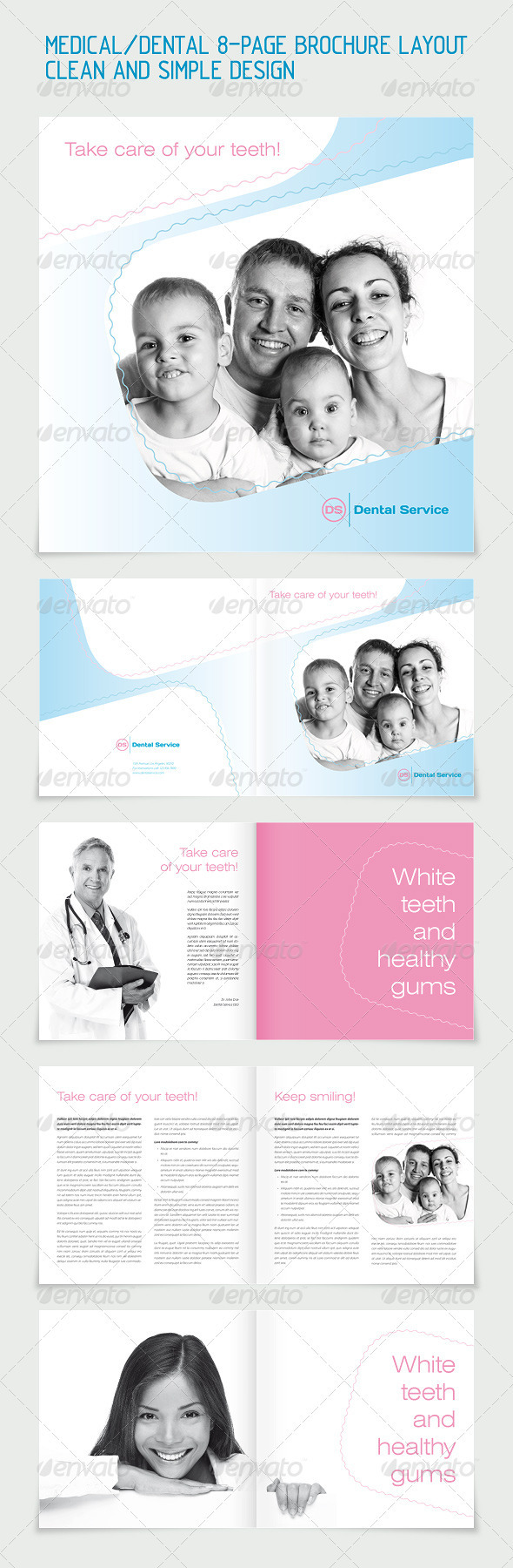 GraphicRiver Dental Medicine 8-pages Brochure Layout 264334