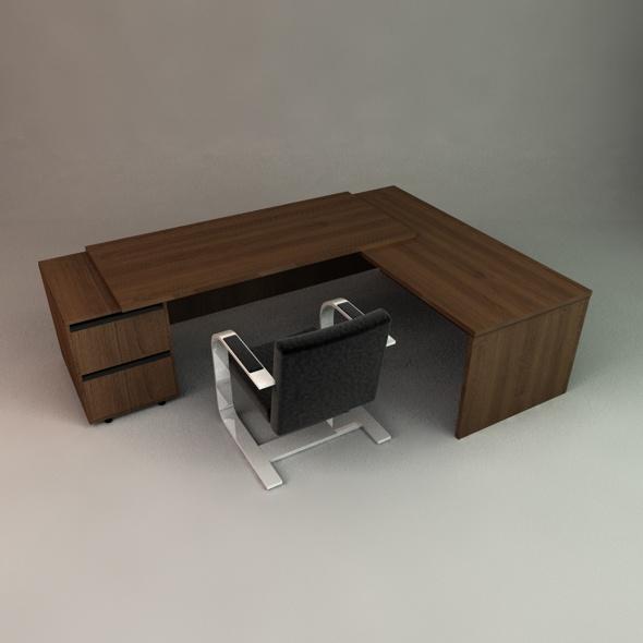 3DOcean Executive Desk 76410