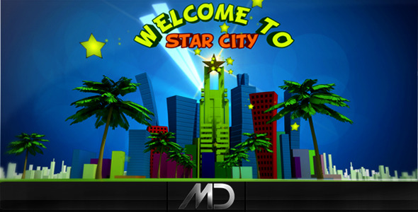 After Effects Project - VideoHive Cartoon Star City 2337050