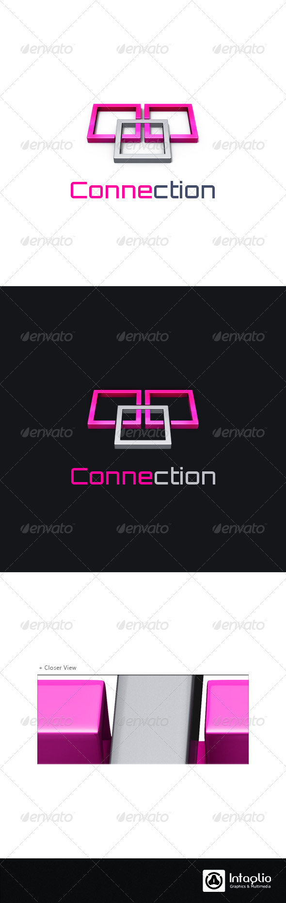 Communication Logo - Connection - 3d Abstract
