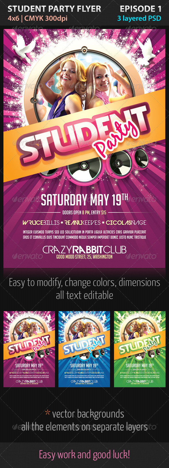 Student Party Flyer Episode 1 - Clubs & Parties Events