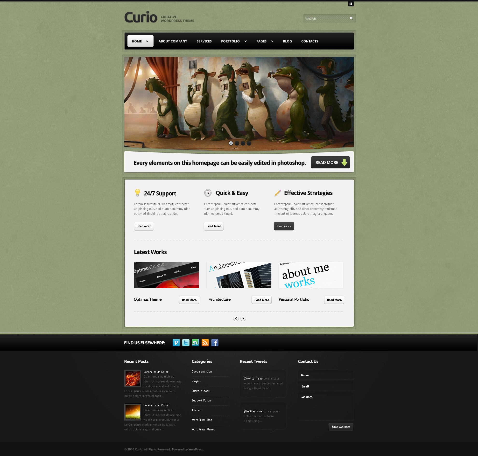 Curio - Clean & Creative Wordpress Theme