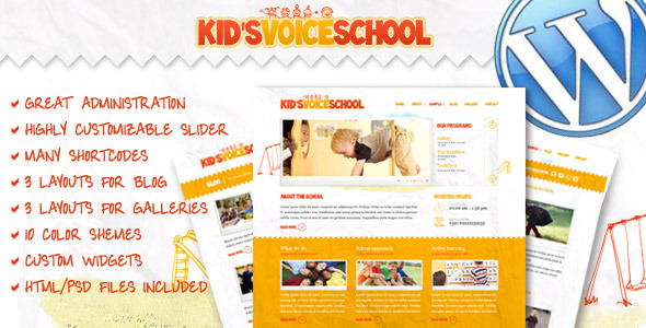 Kid's Voice School WordPress Theme - Children Retail