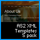 AS2 XML Templates 5 pack - ActiveDen Item for Sale