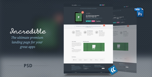 Incredible - The ultimate premium landing page