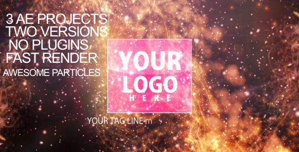 After Effects Project - VideoHive Particles-flare Logo Opener 2 2340128