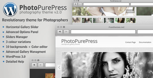 PhotoPurePress - WordPress for Photographers - ThemeForest Item for Sale