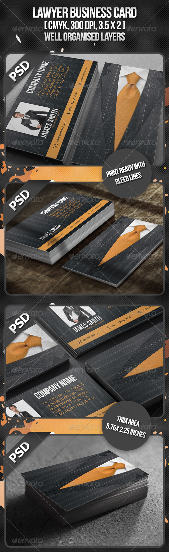 GraphicRiver Lawyer Business Card 408695