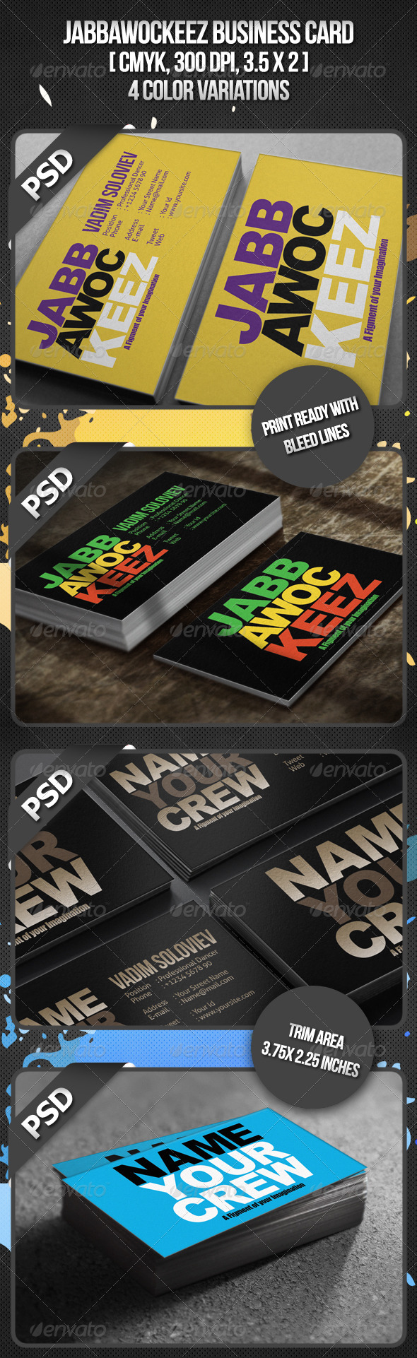 Jabbawockeez Business Card - Creative Business Cards