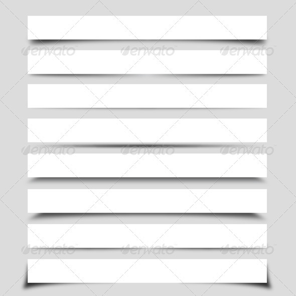 Graphic River Banner Shadow Collection  Vectors -  Miscellaneous 2341041
