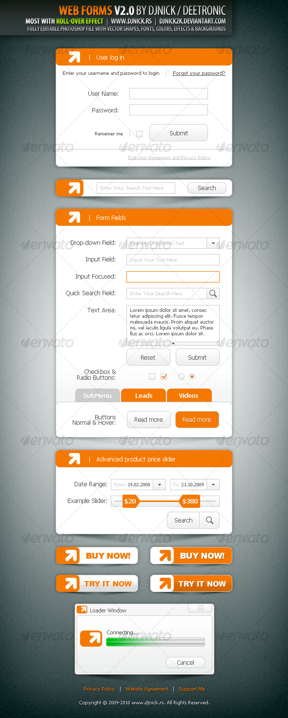 GraphicRiver Web Forms V2.0 by djnick deetronic 86707