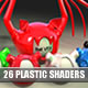 26+2 Plastic Shaders Pack For CINEMA4D (C4D)