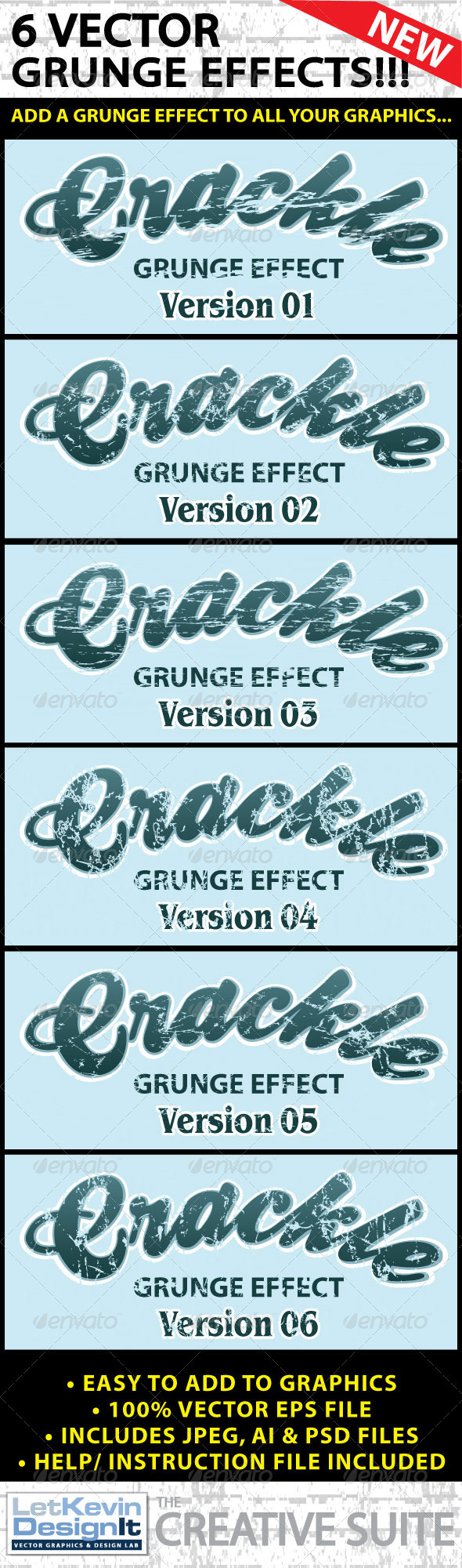 GraphicRiver Vector Grunge Crackle Distressed Graphic Effect 2343002