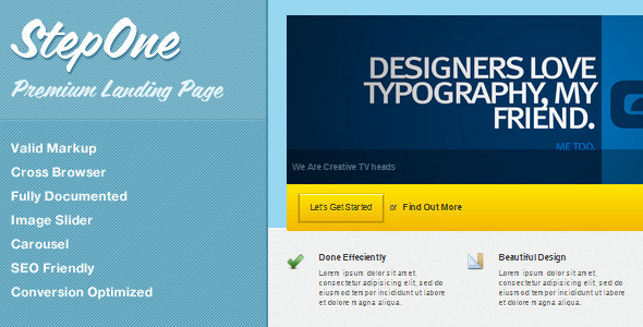 StepOne - Premium Landing Page HTML Template