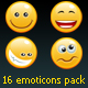 16 non rasterized emoticons pack + bonus - GraphicRiver Item for Sale