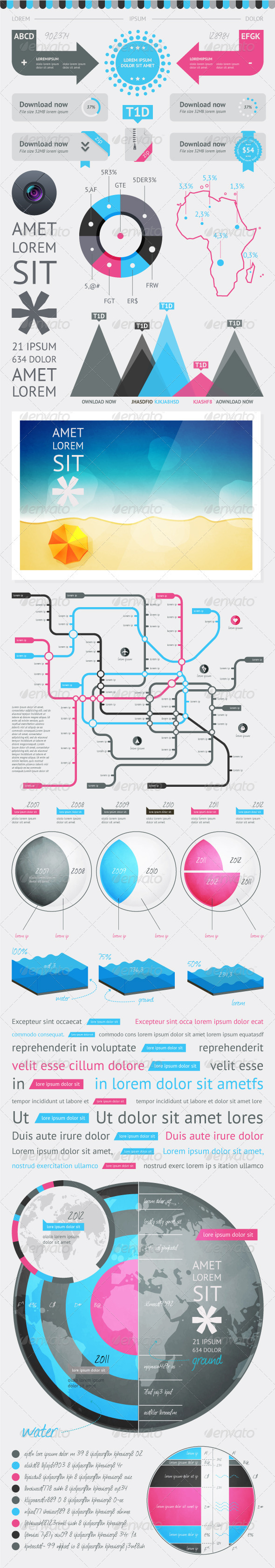 GraphicRiver Elements of Infographics with buttons and menus 2345770