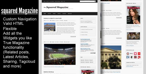 ThemeForest Squared Magazine Tumblr News Magazine Theme 241898