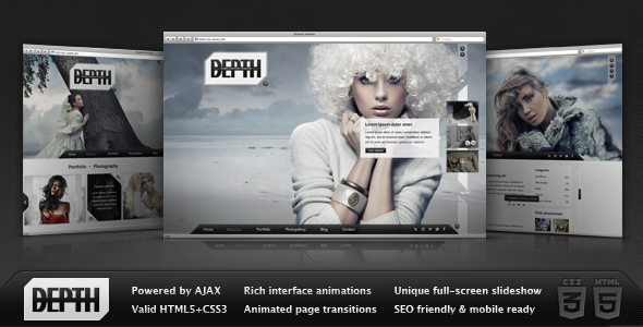 Depth HTML Full-Screen AJAX Portfolio