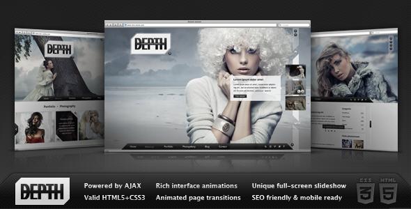 ThemeForest Depth HTML Full-Screen AJAX Portfolio 2346211