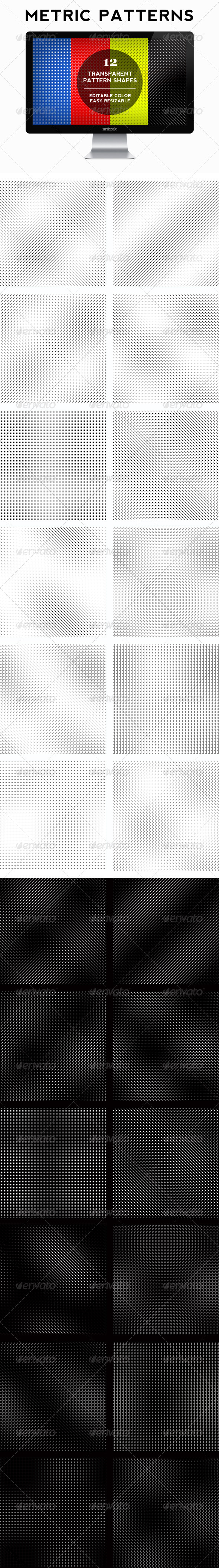 Metric Patterns Set - Miscellaneous Textures / Fills / Patterns