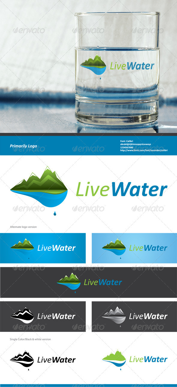 Live Water - Nature Logo Templates
