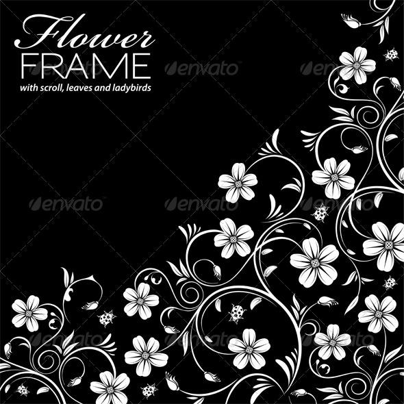 GraphicRiver Floral Frame 2346679