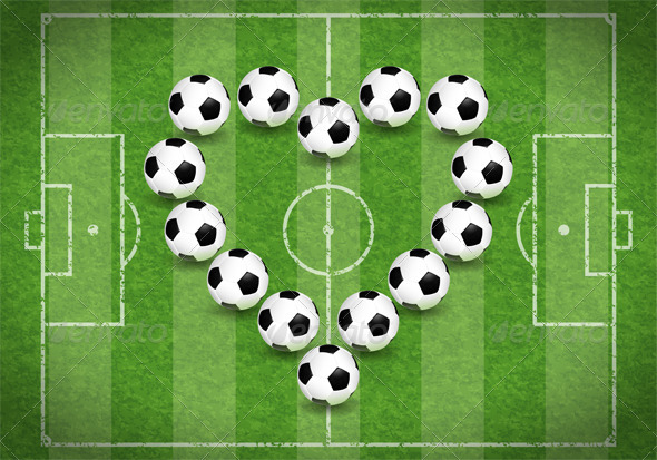 Graphic River Love for Soccer Vectors -  Conceptual  Sports/Activity 2346697
