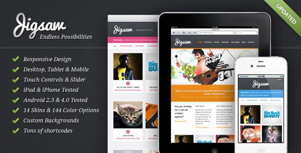 ThemeForest Jigsaw Responsive WordPress Theme 1373620