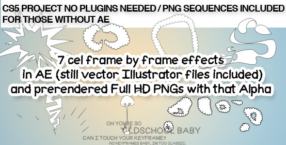 VideoHive Cel drawn cartoon effects & explosions 2347027