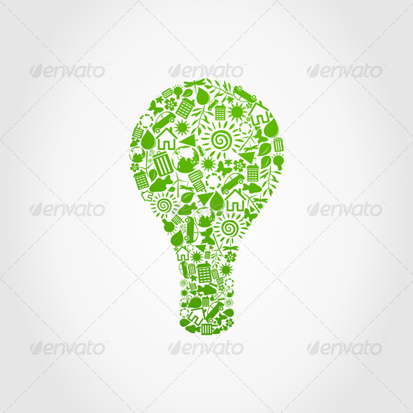 Ecology a bulb - Miscellaneous Vectors