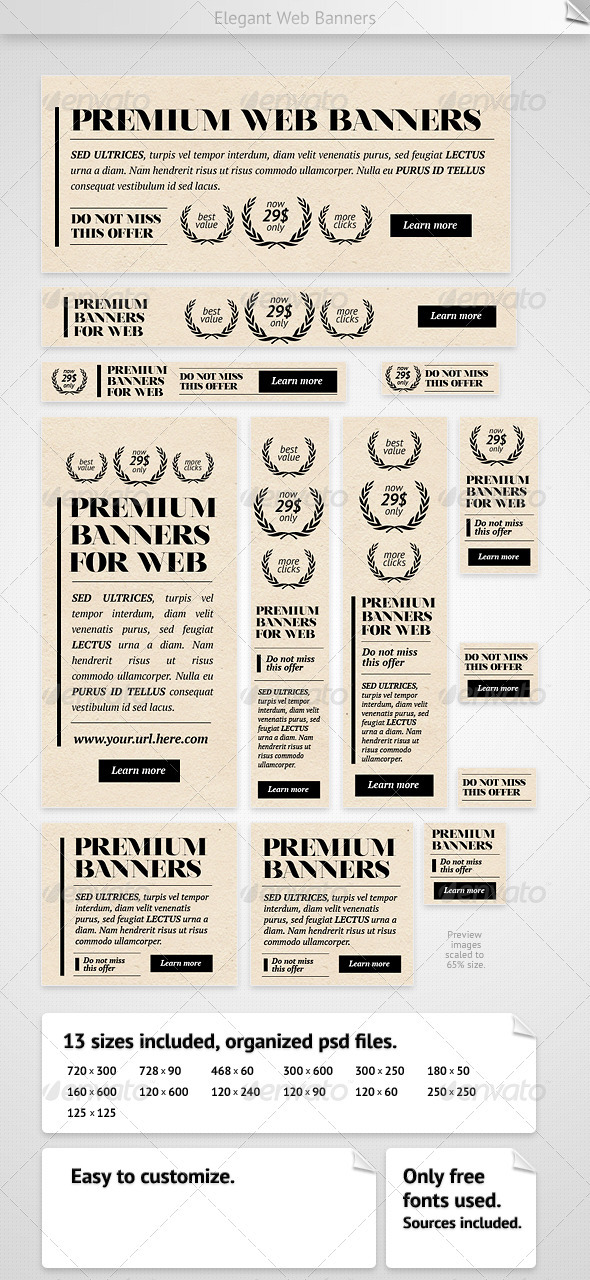 Elegant Web Banners - Banners & Ads Web Elements