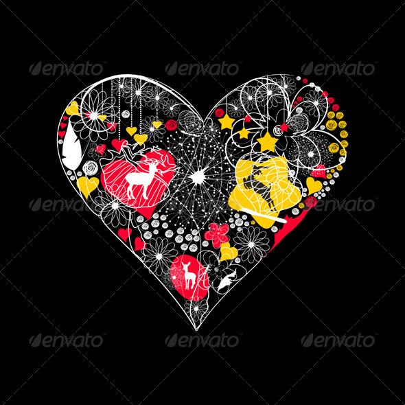 Natural heart4 - Valentines Seasons/Holidays