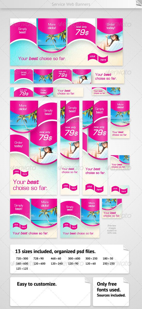 GraphicRiver Service Web Banners 2347436
