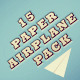 15 Paper Airplane Pack - VideoHive Item for Sale
