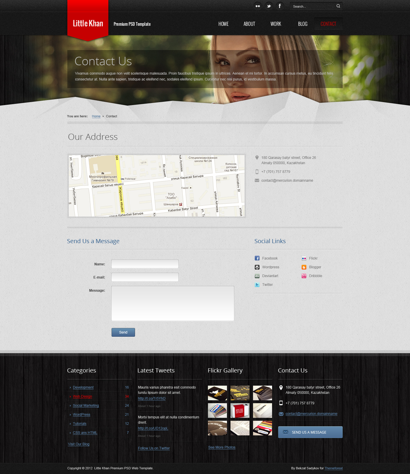 Little Khan Premium PSD Theme
