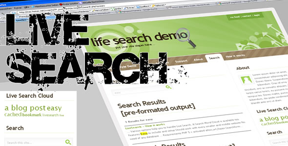 CodeCanyon Live Search Searchengine for your Website 86875