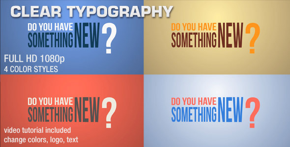 VideoHive Clear Typography 2348599